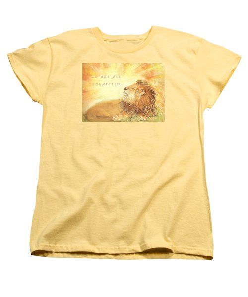 Cecil The Lion Women's T-Shirt (Standard Cut) by Denise Fulmer