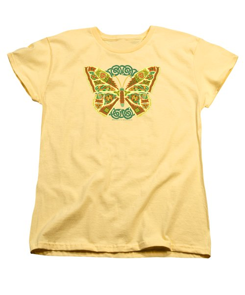 Women's T-Shirt (Standard Cut) featuring the mixed media Celtic Butterfly by Kristen Fox
