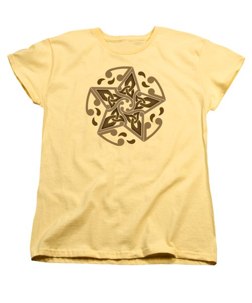 Women's T-Shirt (Standard Cut) featuring the mixed media Celtic Star by Kristen Fox