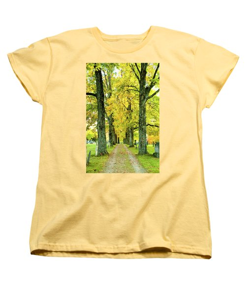 Cemetery Lane Women's T-Shirt (Standard Cut) by Greg Fortier