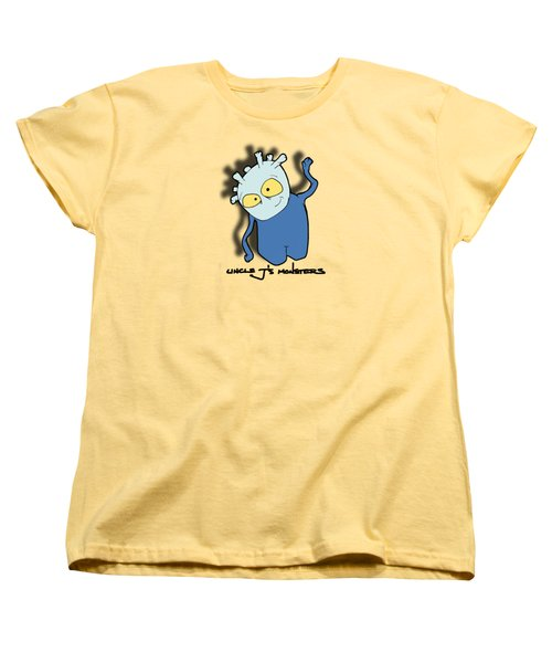 Women's T-Shirt (Standard Cut) featuring the drawing Chane by Uncle J's Monsters