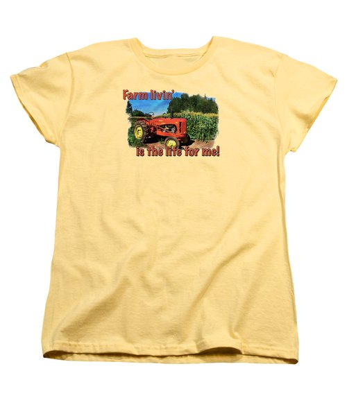 Charlie The Tractor Women's T-Shirt (Standard Cut) by Richard Farrington