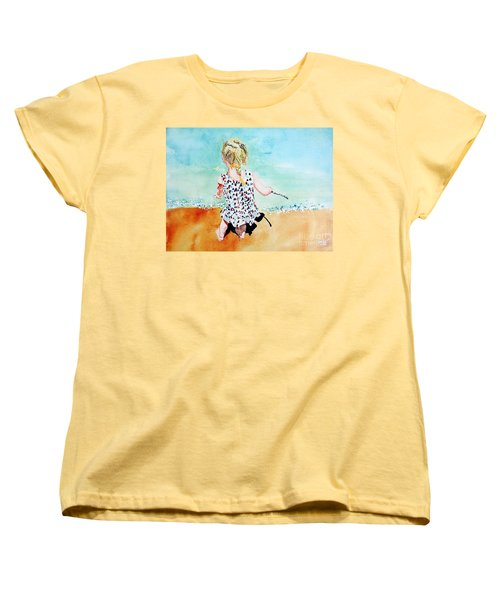 Charlotte By The Lake Women's T-Shirt (Standard Cut) by Tom Riggs