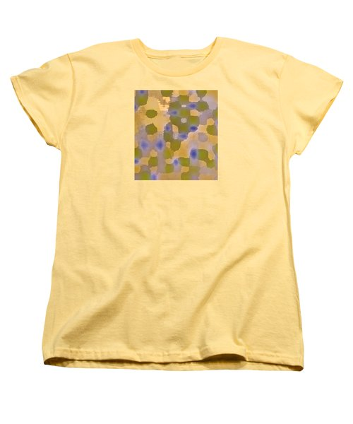 Chartreuse Two  By Rjfxx. Original Abstract Art Painting. Women's T-Shirt (Standard Cut) by RjFxx at beautifullart com