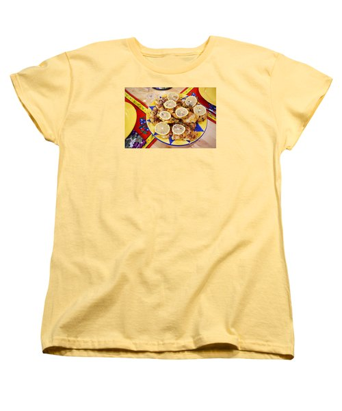Women's T-Shirt (Standard Cut) featuring the digital art Chicken With Lemon by Jana Russon