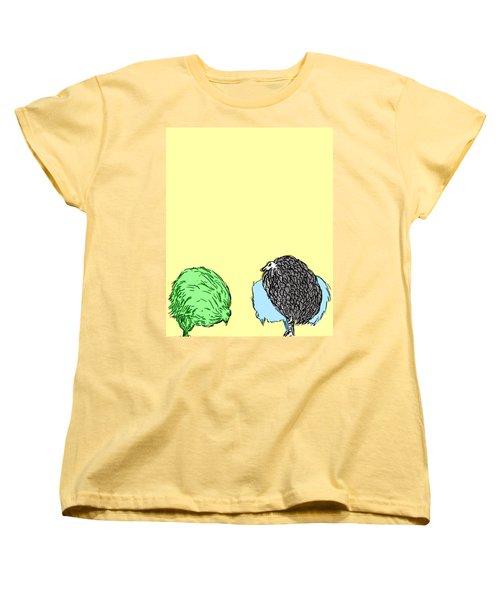 Chickens Three Women's T-Shirt (Standard Cut) by Jason Tricktop Matthews