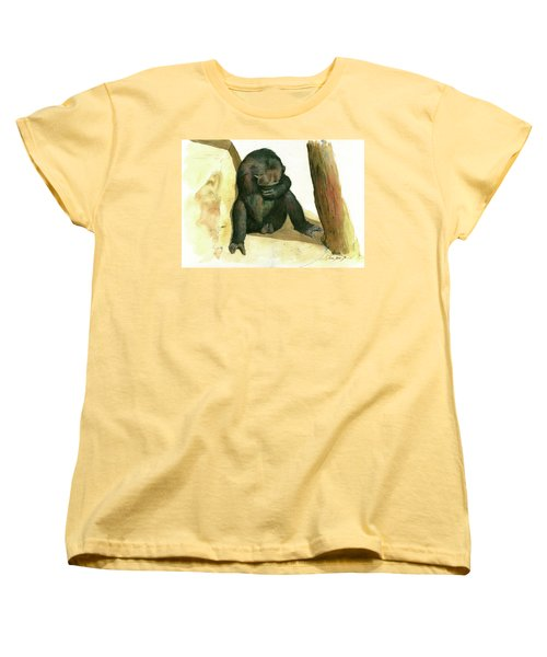 Chimp Women's T-Shirt (Standard Cut) by Juan Bosco