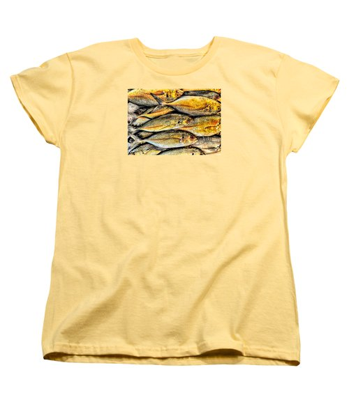 Chinatown Fish Market Nyc Women's T-Shirt (Standard Cut) by Steve Archbold
