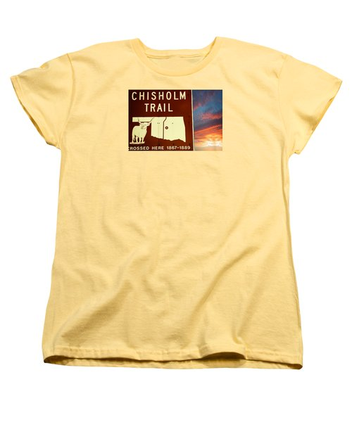 Chisholm Trail Oklahoma Women's T-Shirt (Standard Cut) by Bob Pardue