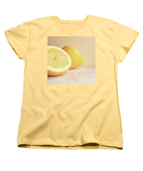 Chopped Lemon Women's T-Shirt (Standard Cut) by Lyn Randle