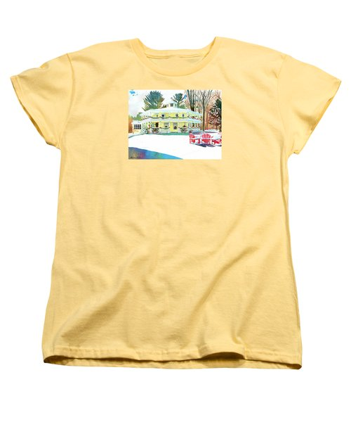 Christmas At The Hexagon House Women's T-Shirt (Standard Cut) by LeAnne Sowa