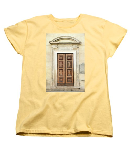 Church Door Women's T-Shirt (Standard Cut) by Valentino Visentini