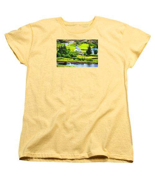Women's T-Shirt (Standard Cut) featuring the photograph Church On The Green by Rick Bragan