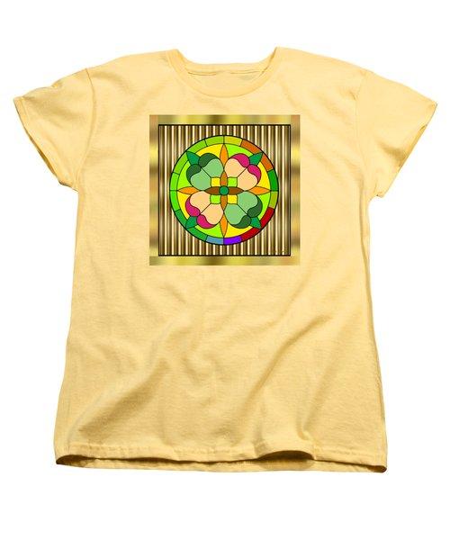 Circle On Bars 2 Women's T-Shirt (Standard Cut) by Chuck Staley