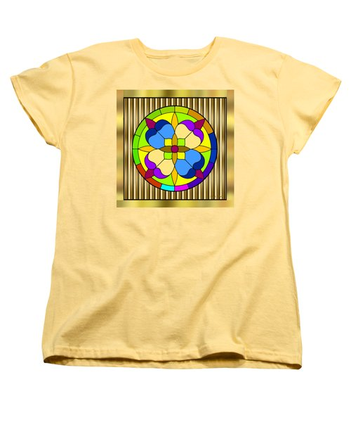 Circle On Bars 3 Women's T-Shirt (Standard Cut) by Chuck Staley