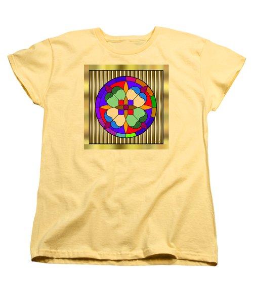 Circle On Bars 4 Women's T-Shirt (Standard Cut) by Chuck Staley