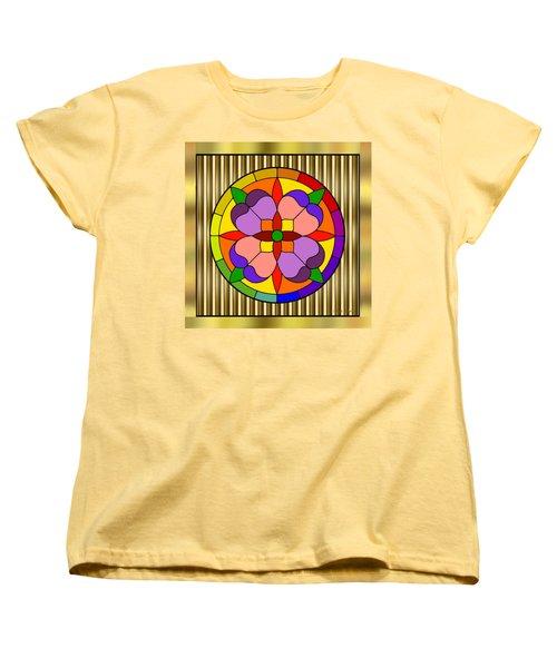 Circle On Bars Women's T-Shirt (Standard Cut) by Chuck Staley