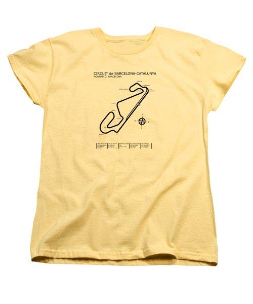 Circuit De Barcelona Catalunya Women's T-Shirt (Standard Cut) by Mark Rogan