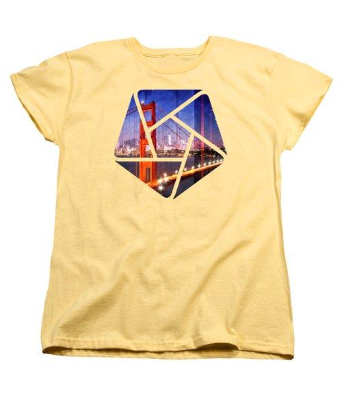 City Art Golden Gate Bridge Composing Women's T-Shirt (Standard Cut)