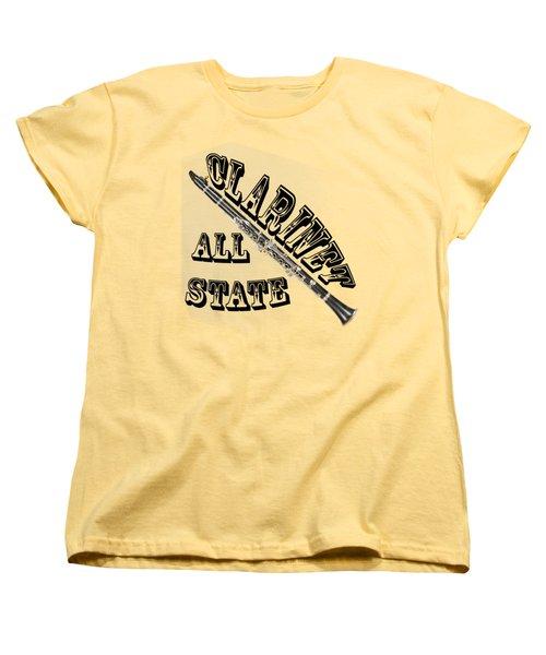 Clarinet All State Women's T-Shirt (Standard Cut) by M K  Miller
