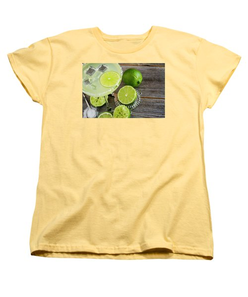 Women's T-Shirt (Standard Cut) featuring the photograph Classic Lime Margarita by Teri Virbickis