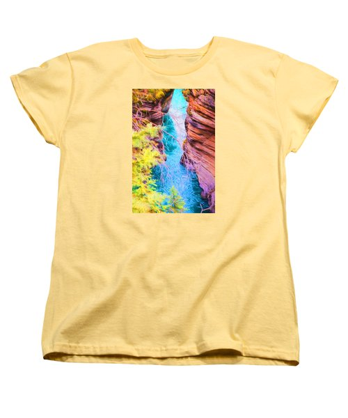 Clear Alpine Water Women's T-Shirt (Standard Cut)