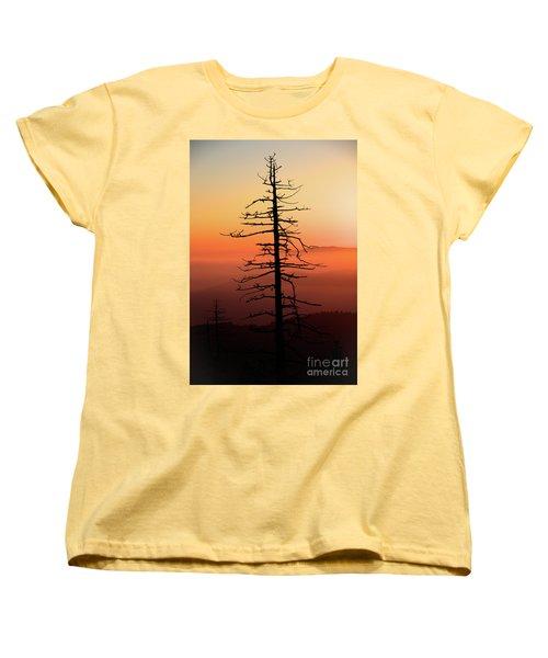 Women's T-Shirt (Standard Cut) featuring the photograph Clingman's Dome Sunrise by Douglas Stucky