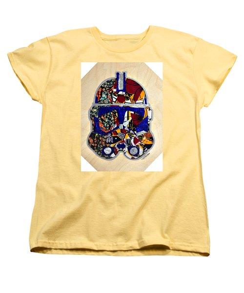 Women's T-Shirt (Standard Cut) featuring the tapestry - textile  Clone Trooper Star Wars Afrofuturist by Apanaki Temitayo M