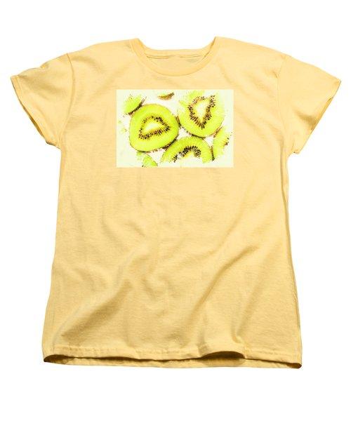 Close Up Of Kiwi Slices Women's T-Shirt (Standard Cut) by Jorgo Photography - Wall Art Gallery