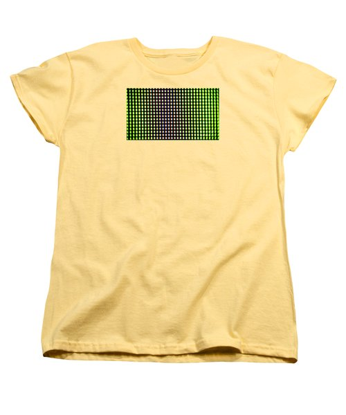 Women's T-Shirt (Standard Cut) featuring the photograph Clouseup Of The Plasma Tv Screen by Odon Czintos