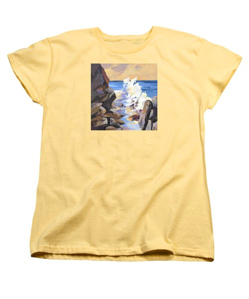 Women's T-Shirt (Standard Cut) featuring the painting Coastal Edge by Rae Andrews