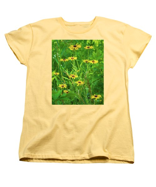 Women's T-Shirt (Standard Cut) featuring the photograph Collection In The Clearing by Bill Pevlor