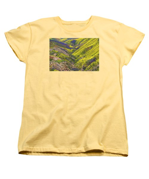 Women's T-Shirt (Standard Cut) featuring the photograph Color Valley by Peter Tellone