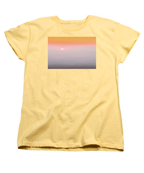 Colorful And Smoky Carolina Sunrise Women's T-Shirt (Standard Cut) by Serge Skiba