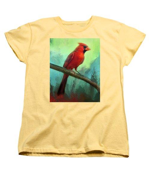 Colorful Cardinal Women's T-Shirt (Standard Cut)