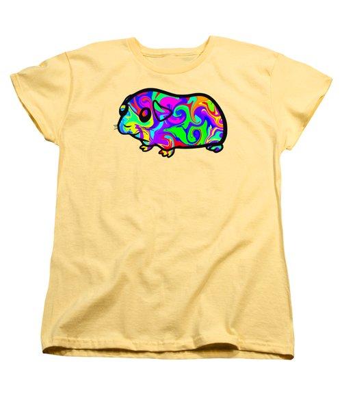 Colorful Guinea Pig Women's T-Shirt (Standard Cut) by Chris Butler