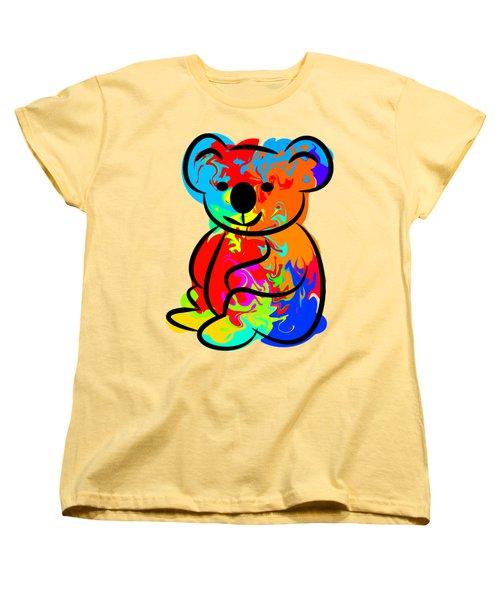 Colorful Koala Women's T-Shirt (Standard Cut) by Chris Butler