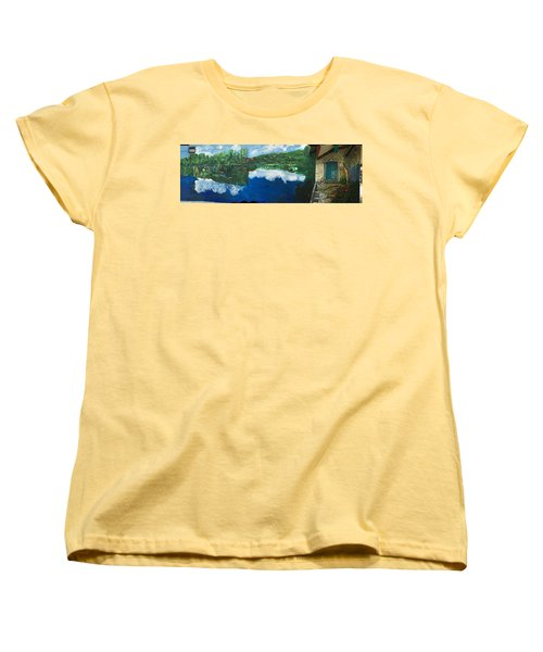 Coloring Holland V - Wall Four Women's T-Shirt (Standard Cut) by Belinda Low