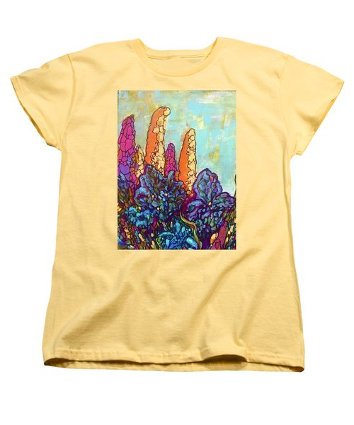 Women's T-Shirt (Standard Cut) featuring the painting Colorwild by Rae Chichilnitsky
