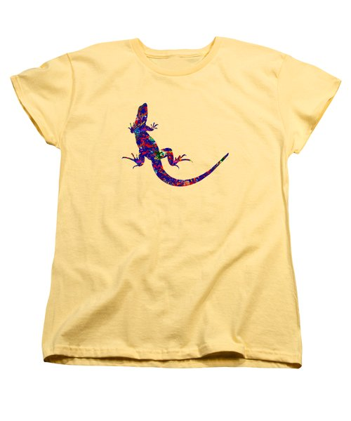 Colourful Lizard Women's T-Shirt (Standard Cut) by Bamalam  Photography