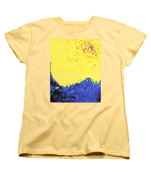 Women's T-Shirt (Standard Cut) featuring the painting Comet by Lenore Senior