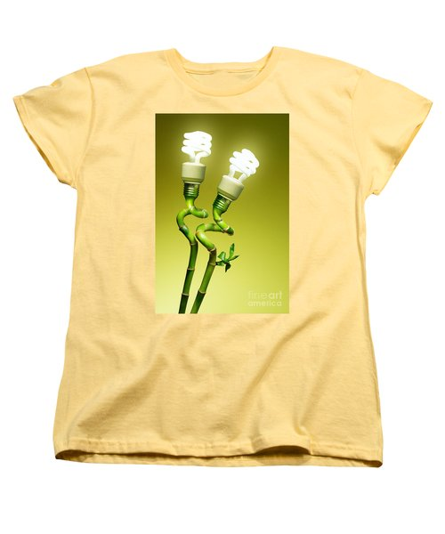Women's T-Shirt (Standard Cut) featuring the photograph Conceptual Lamps by Carlos Caetano