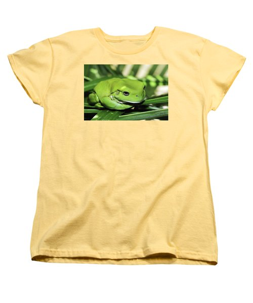 Cool Green Frog 001 Women's T-Shirt (Standard Cut) by Kevin Chippindall