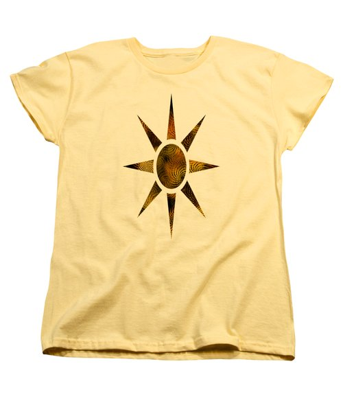 Copper Spirals Abstract Square Women's T-Shirt (Standard Fit)