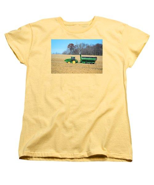 Corn Harvest Women's T-Shirt (Standard Cut) by Bonfire Photography