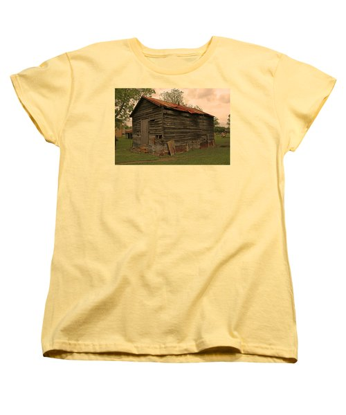 Corn Shed Women's T-Shirt (Standard Cut) by Ronald Olivier