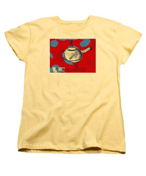 Cosmic Tea Time Women's T-Shirt (Standard Cut) by Jason Nicholas
