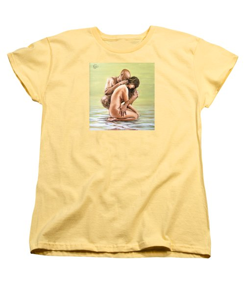 Women's T-Shirt (Standard Cut) featuring the painting Couple by Natalia Tejera