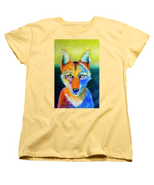 Coyote Women's T-Shirt (Standard Cut) by Rick Mosher