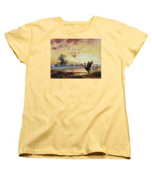 Cranes - Evening Flight Women's T-Shirt (Standard Cut)